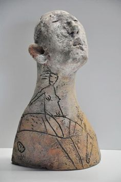MIKE MORAN - ceramic figurative sculpture - Sculpturesite Gallery