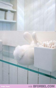 Bunny Butt Cotton Dispenser