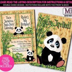 Panda Birthday Invitations