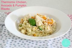 Thermomix Chicken, Avocado & Pumpkin Risotto is a quick and easy dinner that the whole family will love! Risotto is the perfect thing to make in the Thermomix – no more stirring at the stove! Chicken And Pumpkin Risotto, Chicken Risotto, Pumpkin Vegetable, Risotto Recipes, Chicken And Vegetables, Savoury Dishes, Light Recipes, Food Hacks, Chicken Recipes