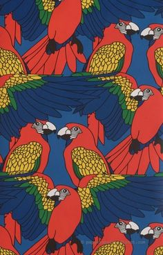 another cool print pattern; the macaw or parrot is a staple in the colombian cultural imaginary Surface Pattern Design, Pattern Art, Motif Design, Textures Patterns, Print Patterns, Illustrations, Illustration Art, Wallpaper Animes, Posca Art