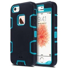 iPhone 5S Case iPhone 5 CaseiPhone SE Case ULAK [KNOX ARMOR] Heavy Duty Sport Rugged Drop Resistant Shockproof Dustproof Protective Case Cover for Apple iPhone 5 5S SE (Blue/Black)