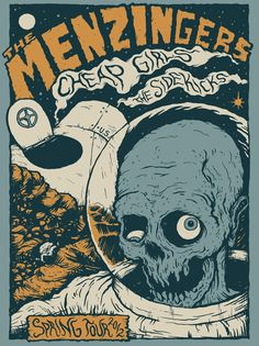 The Menzingers 2012 Spring US Tour poster by Bruno Guerreiro, via Behance Tour Posters, Band Posters, Retro Posters, Music Posters, Game Concept Art, Creative Posters, Art Pop, Psychedelic Art, Graphic Design Inspiration