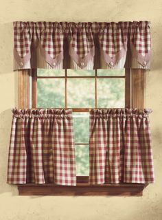 sewing curtains Country Kitchen Curtains And Valances - Store Country Curtains for high quality window therapies from informal curtains to traditional conventional types. Make rooms heat and welcoming with curtains, Kitchen Curtains And Valances, Farmhouse Kitchen Curtains, Dining Room Curtains, Cute Curtains, No Sew Curtains, Rustic Curtains, Country Curtains, Valance Curtains, Rustic Valances
