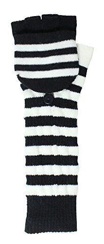 Twice as Nice Striped Long Fingerless Mitten Gloves http://www.amazon.com/dp/B017DS8OBI