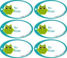 Owl Tags Free Printable