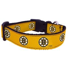 "New Boston Bruins Officially Licensed NHL All Star Dogs 1"" Dog Pet Collar     eBay"