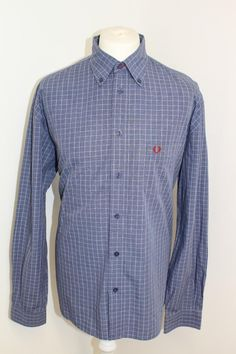 Fred Perry - Mens Blue Checked Shirt Size XL in Clothes, Shoes &  Accessories, Men's Clothing, Casual Shirts & Tops