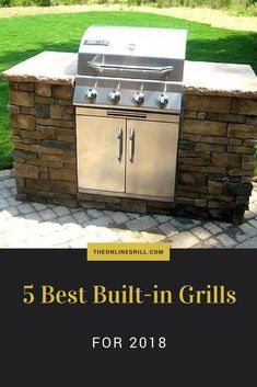 Built-in grills are usually fixed in a specific area in your kitchen or yard. They use gas and make very great outdoor cooking partners. Who wouldn't like to go out in their backyard and grill some ribs while having drinks with friends? These best built i Outdoor Kitchen Grill, Outdoor Kitchen Design, Outdoor Cooking, Bbq Kitchen, Built In Gas Grills, Built In Grill, Diy Grill, Basic Kitchen, Best Build