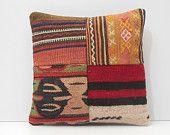patchwork pillow cover outdoor throw pillow oversized floor pillow moroccan rug pillow throw pillow couch red pillow kilim pillow sham 16756