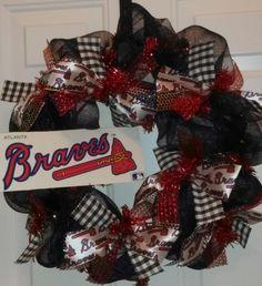 Chop Chop!  Atlanta Braves Real Sassy Wreath!!!