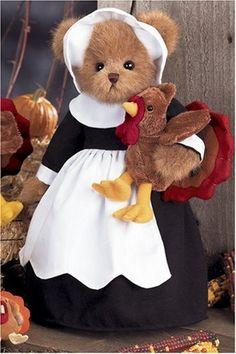 Bearington Thanksgiving Pilgrim Bear & Turkey Gabby & Gobbles #179801 by Bearington, http://www.amazon.com/dp/B000VYV94G/ref=cm_sw_r_pi_dp_Ososrb0G32P9H
