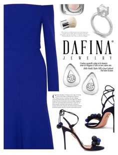 """Dafina Jewelry"" by yexyka ❤ liked on Polyvore featuring Lela Rose, Aquazzura, Dolce&Gabbana and dafinajewelry"