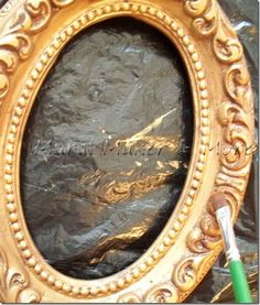 How to paint an Antique Gold Faux Finish - Just Paint It Blog