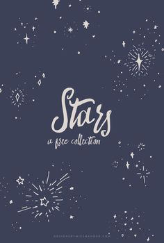 Beautiful, serene, and FREE: This star collection has it all! Lovely elements for nursery design, patterns, or texture for a night sky.