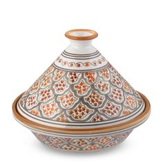 Tunisian Hand-Painted Mosaic Tagine