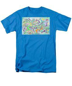 Abstract Undersea Decorative Design - Turquoise Foam T-Shirt by Julia Woodman