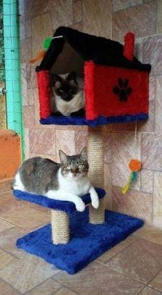 Arranhadores de casinhas para gatos Pet Furniture, Ragnar, Cat Tree, Animal Crafts, Animal House, Dog Houses, Animal Design, Pet Accessories, Pet Shop
