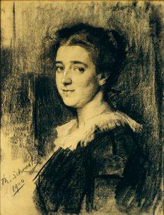 Therese Schwartze: Portrait of Aletta Anna Reiniera (Letty) Ansingh