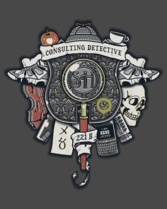 Consulting Detective Crest | $10 Sherlock tee from ShirtPunch today only!