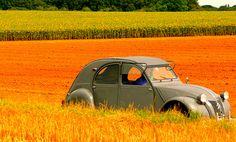 Citroën 2CV campagnarde.
