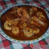 Γαρίδες σαγανάκι Shrimp, Chicken, Meat, Food, New Recipes, Essen, Meals, Yemek, Eten