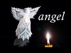 DIY angel crochet tutorial part III / christmas crochet Crochet Tree, Crochet Angels, Crochet Crafts, Crochet Yarn, Crochet Socks Pattern, Crochet Doily Patterns, Christmas Angels, Christmas Diy, Christmas Ornaments