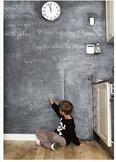 i love a chalkboard wall.
