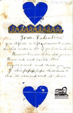 A Civil War era Valentine from Permilia Gordon to her soldier husband Samuel