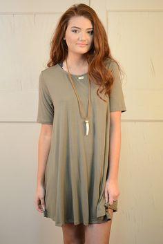 Gracelyn Swing Dress - Olive