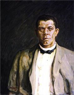 Booker T. Washington, 1917 by Henry Ossawa Tanner. Realism. portrait