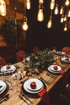 Signature Party Rentals | Wedding Inspiration | Wedding | Wedding Reception | Holiday Party Planning | Holiday Decor | Holiday Design | Plaid | Tablescape | Festive for the Holidays