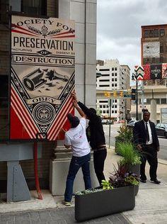 Shepard Fairey in Detroit, Michigan, 5/15 (LP)