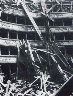 Teatro alla Scala, Milano, bombardato durante la II guerra mondiale
