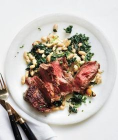 Hungry? Try this gluten-free recipe for pan-roasted steak with creamed kale