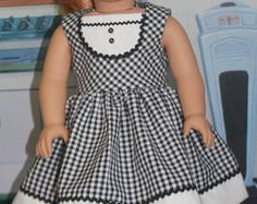 "American Girl Style ""Doo Wop Days"" in Black and White Check"