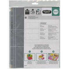 """Ring Photo Sleeve Protectors 8.5""""X11"""" 10/Pkg-(2) 2""""X4"""", (2) 6""""X4"""" & (2) 4""""X3"""" Pockets - Overstock™ Shopping - Big Discounts on We R Memory Keepers Refills & Protectors"""
