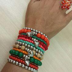 Pulserismo feminino  Mix de pulseiras femininas. Bracelet