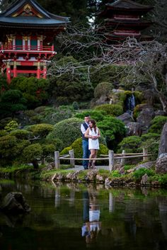 Dave Donovan Photography - Engagement session at Japanese Tea Gardens in San Francisco.