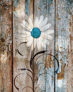 Arte Pallet, Wood Pallet Art, Pallet Painting, Painting On Wood, Wood Art, Painted Pallet Art, Acrylic Paintings, Farmhouse Wall Art, Rustic Wall Art