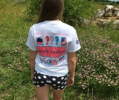 Get your Fourth of July shirt before they are gone!!  Simply Southern Top $20|| Navy Dot Shorts $26.50  Comment below with PayPal to purchase and ship or comment  for 24 hour hold  #repurposeboutique#hipandtrendy#shoprepurpose#boutiquelove#summer#summerready#simplysouthern#polkadots#fourthofjuly