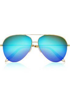 Victoria Beckham - Aviator-style gold-tone mirrored sunglasses. Óculos De  Sol ... 12599a413e