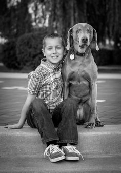 A Boy and His Dog - Timeless Black and Whites