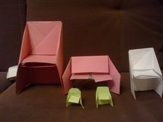 origami chair