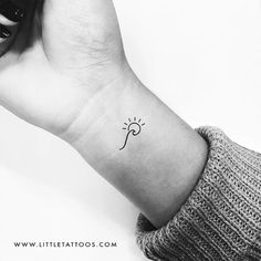 Minimalist Wave and Sun Temporary Tattoo - Set of 3 – littletattoos