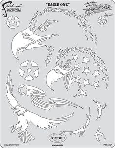 artool freehand airbrush templates patriotica eagle one