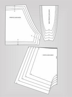 Gabaritos de Lingerie – Jonatas Verly Underwear Pattern, Bra Pattern, Jacket Pattern, Sewing Lingerie, Lingerie For Men, Free Printable Sewing Patterns, Sewing Pants, Sewing Lessons, Pattern Drafting