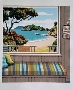 "Check out Tony Ogle Print ""Harotaonga"" at New Zealand Fine Prints Nz Art, Art For Art Sake, New Zealand Art, Kiwiana, Typography Art, Beach Art, Painting Inspiration, Art For Sale, Design Art"