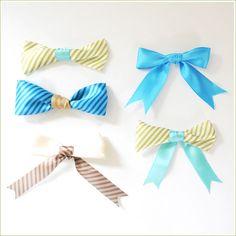 Mixed ribbon bows