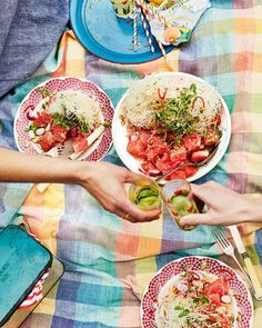 A spicy watermelon salad recipe – made with crispy noodles, peanuts and a zingy lime dressing – is a great make-ahead salad for a picnic or party. Watermelon Salad Recipes, Healthy Salad Recipes, Crispy Noodles, Leafy Salad, Make Ahead Salads, Oil For Deep Frying, Delicious Magazine, Lime Dressing, Coriander Seeds